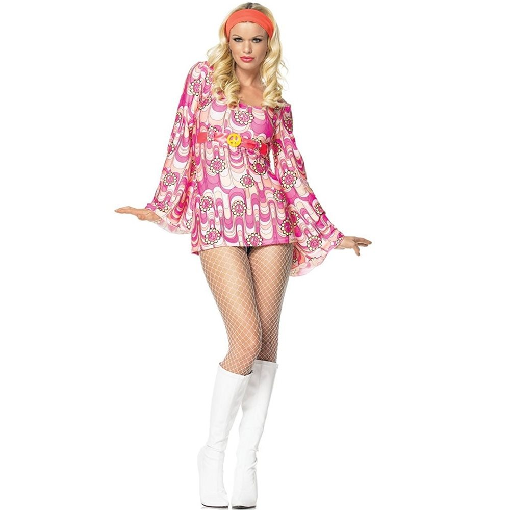 Picture of 60s Retro Daisy Dress Adult Womens Costume