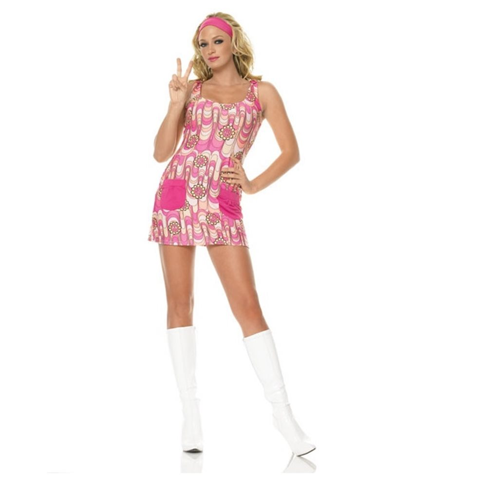 Picture of 70s Retro Peace Dress Adult Womens Costume
