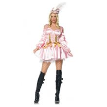 Picture of Captain's Treasure Pink Pirate Adult Womens Costume