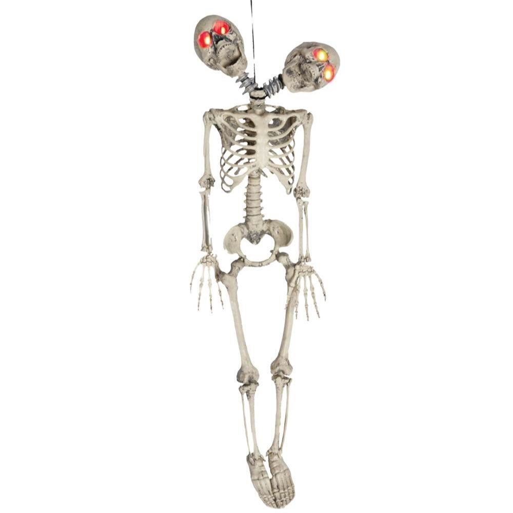 Picture of 2-Headed Skeleton with Light-Up Eyes 39in