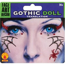 Picture of Gothic Doll Face Tattoos