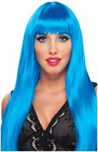 Picture of Neon Blue Fantasy Diva Wig