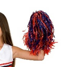 Picture of Blue & Red Pom Pom