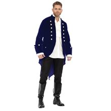 Picture of Blue Velvet Adult Frock Coat