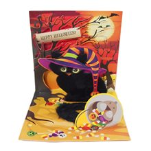 Picture of Spooky Cat Halloween Pop-Up Greeting Card