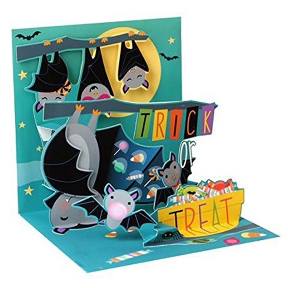 Picture of Candy Bats Halloween Pop-Up Greeting Card