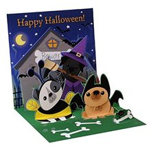 Picture of Dogs Like Candy Halloween Pop-Up Greeting Card