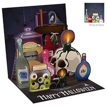 Picture of Scary Halloween Potions Pop-Up Greeting Card