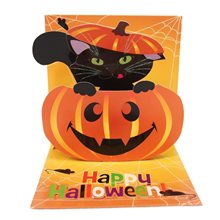 Picture of Pumpkin Cat Halloween Pop-Up Greeting Card