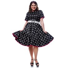 Picture of Hot 50s Polka Dot Adult Womens Plus Size Costume