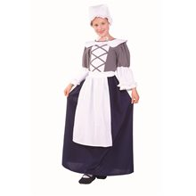 Picture of Colonial Peasant Dress Child Costume