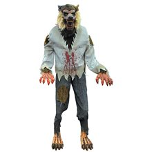 Picture of Life-Sized Lurching Cursed Werewolf Animated Prop