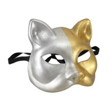 Picture of Gold & Silver Venetian Cat Mask (More Colors)