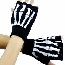 Picture of Skeleton Bones Fingerless Gloves