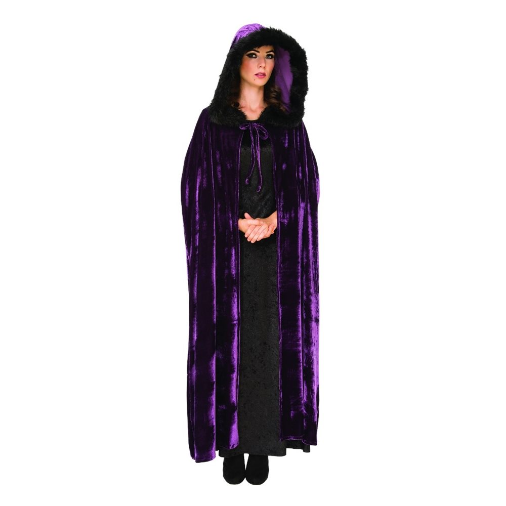 Picture of Midnight Purple Hooded Cape