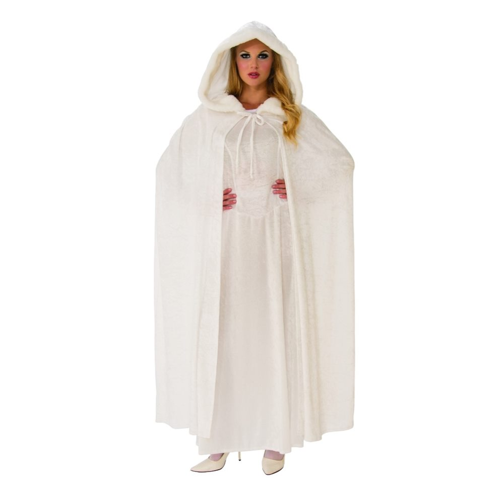 Picture of Wintry White Hooded Cape