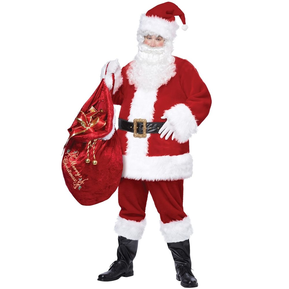 Picture of Santa Claus Deluxe Adult Mens Costume