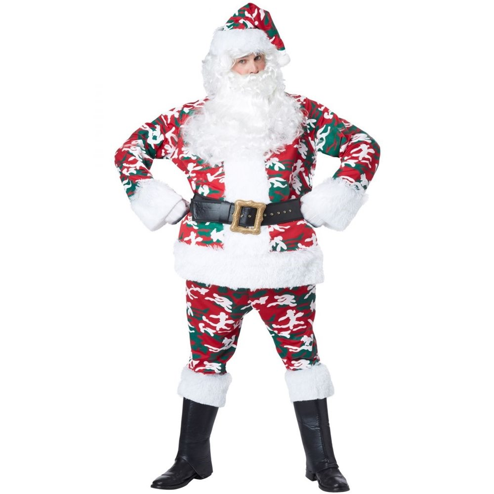 Picture of Santa Camo Suit Adult Mens Costume