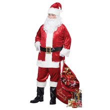 Picture of Santa Claus Classic Adult Mens Plus Size Costume
