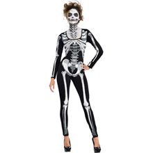 Picture of Skeleton Bones Adult Womens Catsuit