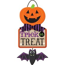 Picture of Trick-or-Treat Jack-O-Lantern Sign