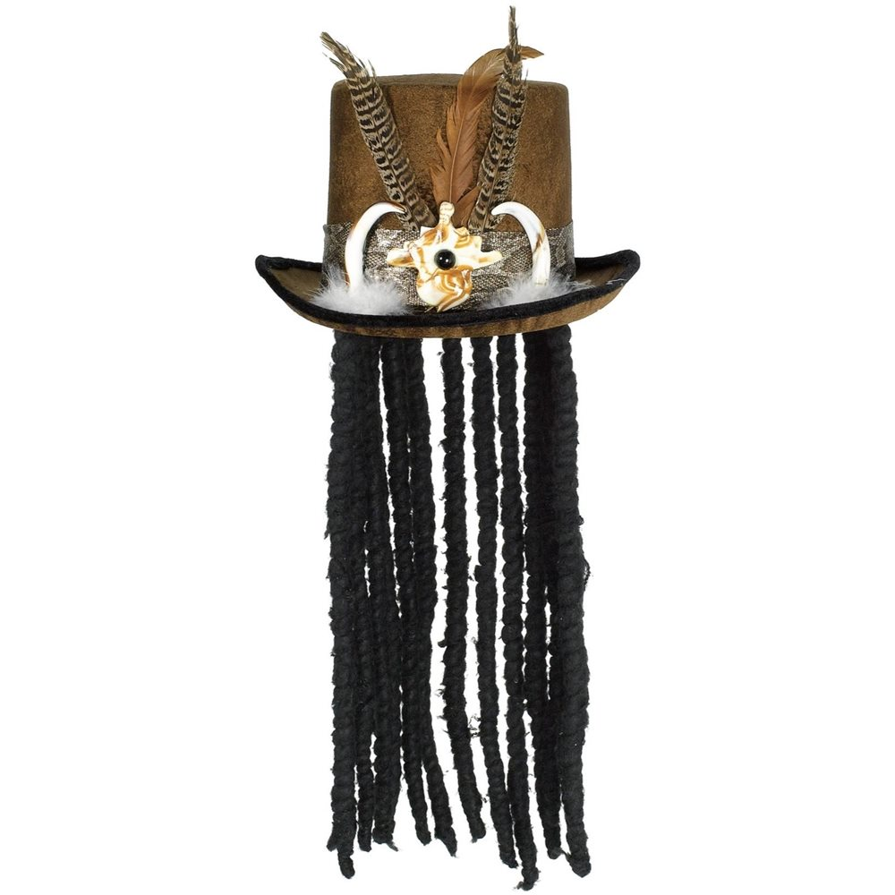 Picture of Witch Doctor Hat with Dreads