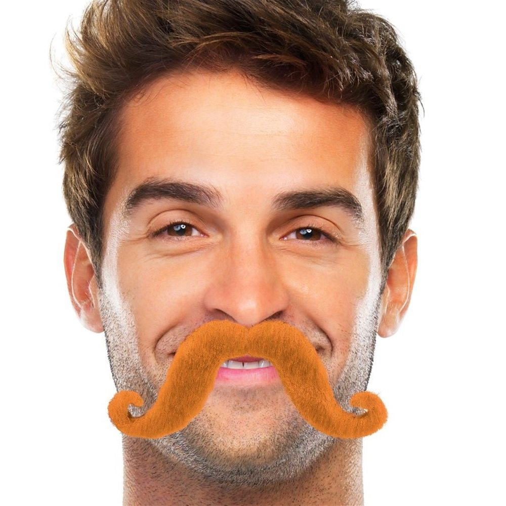 Picture of Orange Handlebar Mustache
