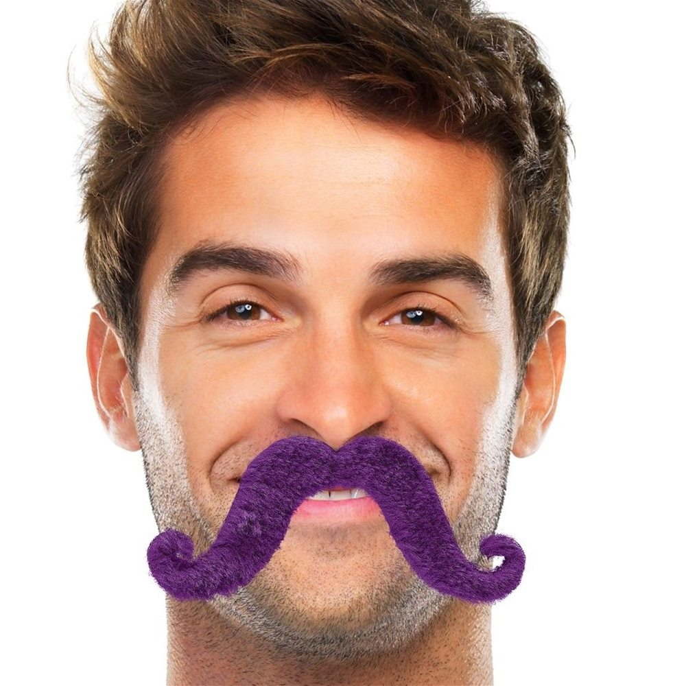 Picture of Purple Handlebar Mustache