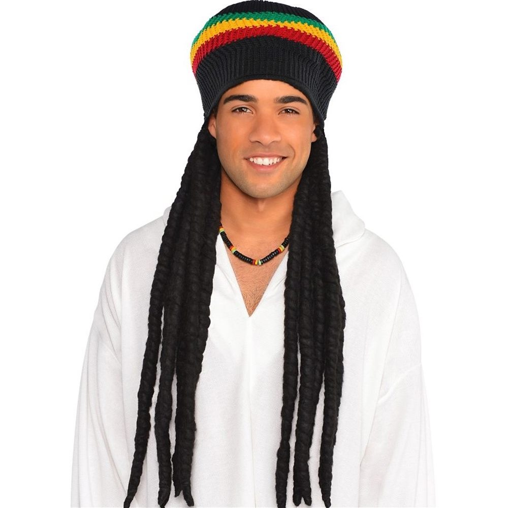 Picture of Rasta Dreadlock Wig with Tam