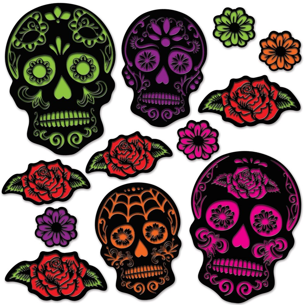 Picture of Day of the Dead Sugar Skull Cutouts