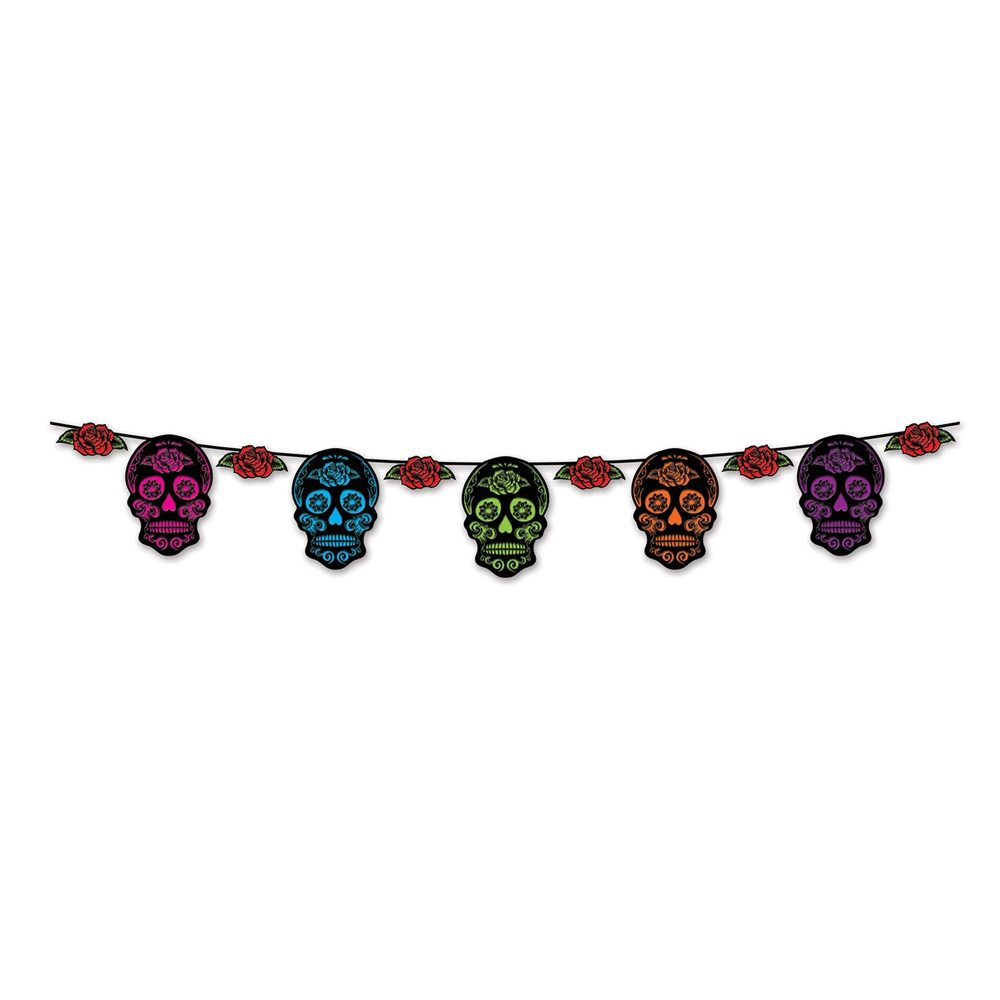 Picture of Day of the Dead Sugar Skull Streamer