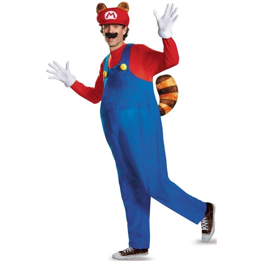 Picture of Super Mario Deluxe Raccoon Adult Mens Costume