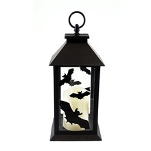 Picture of Bats Halloween Lantern with LED Candle