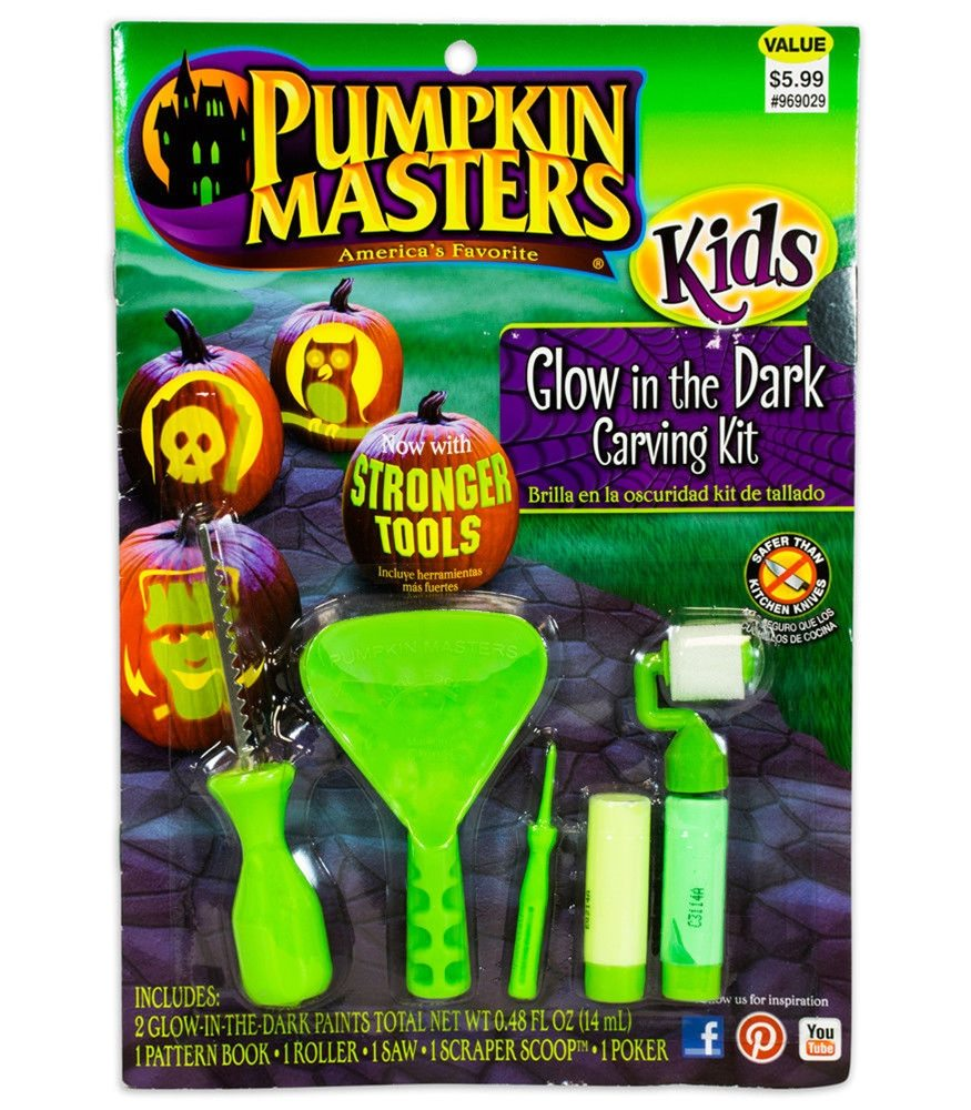 Picture of Glow in the Dark Kids Carving Kit