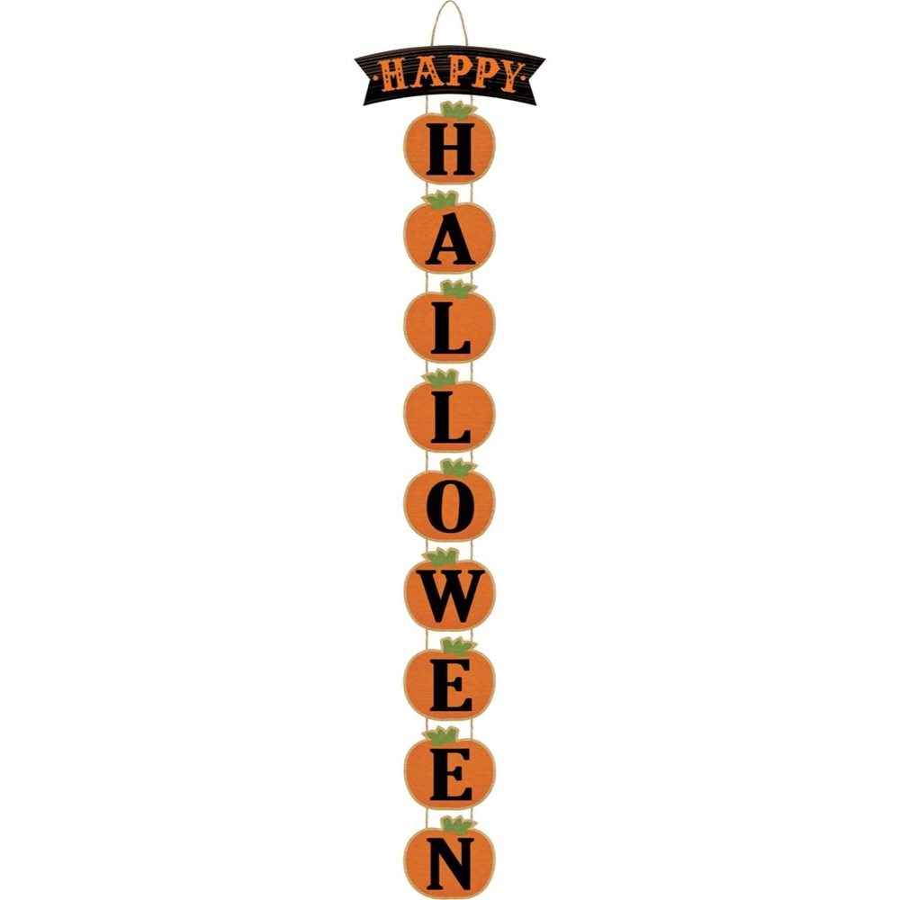 Picture of Happy Halloween Stacked Pumpkin Sign