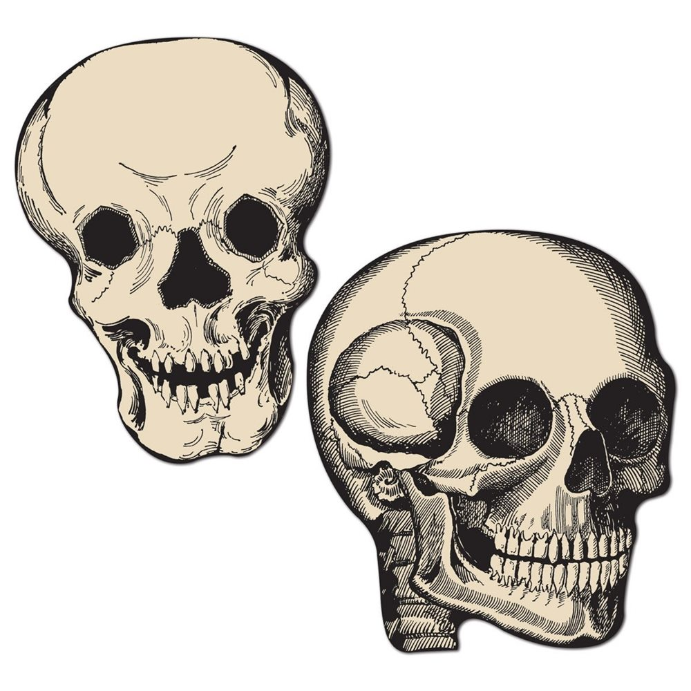 Picture of Vintage Style Skull Cutouts 10ct