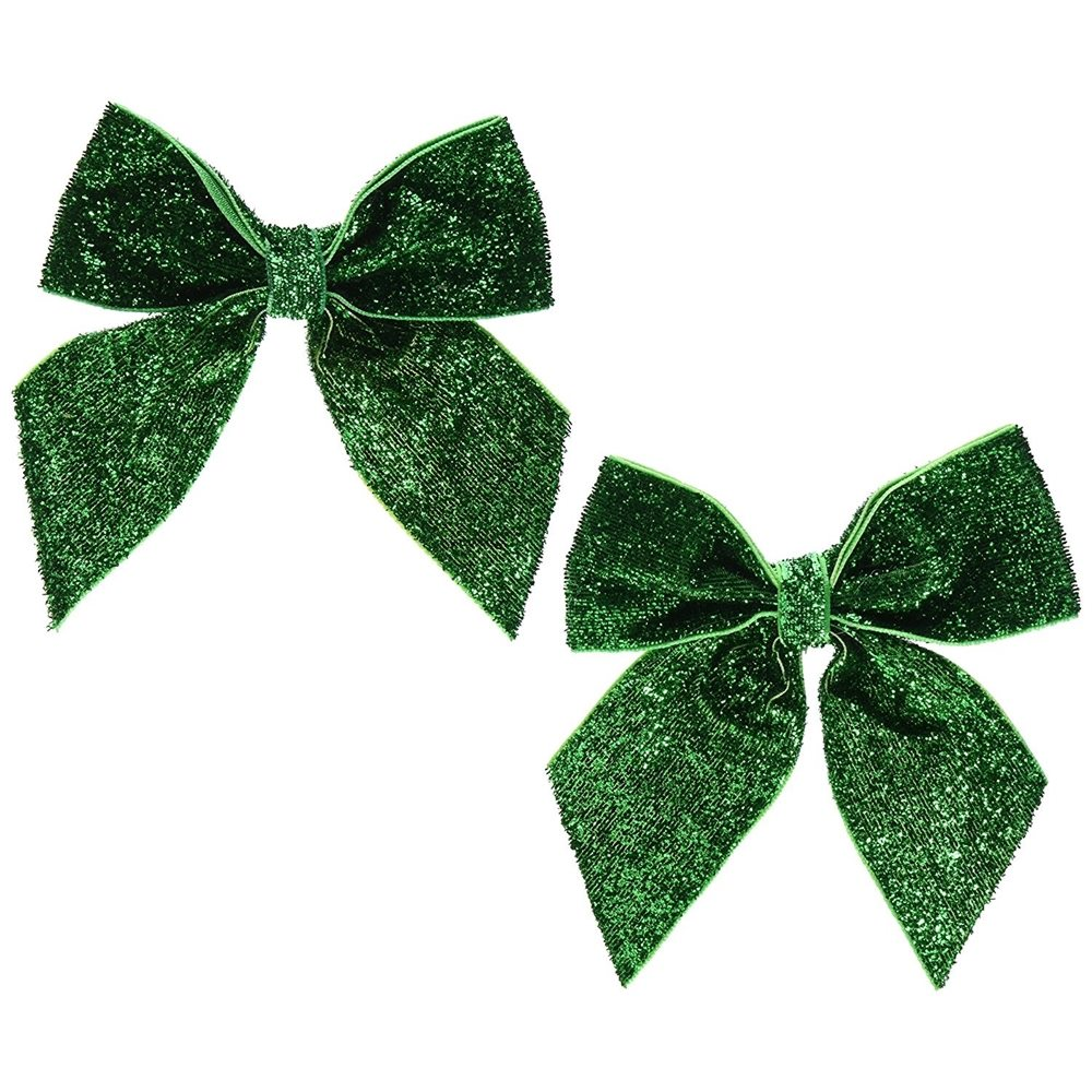 Picture of Green Glitter Hair Bows