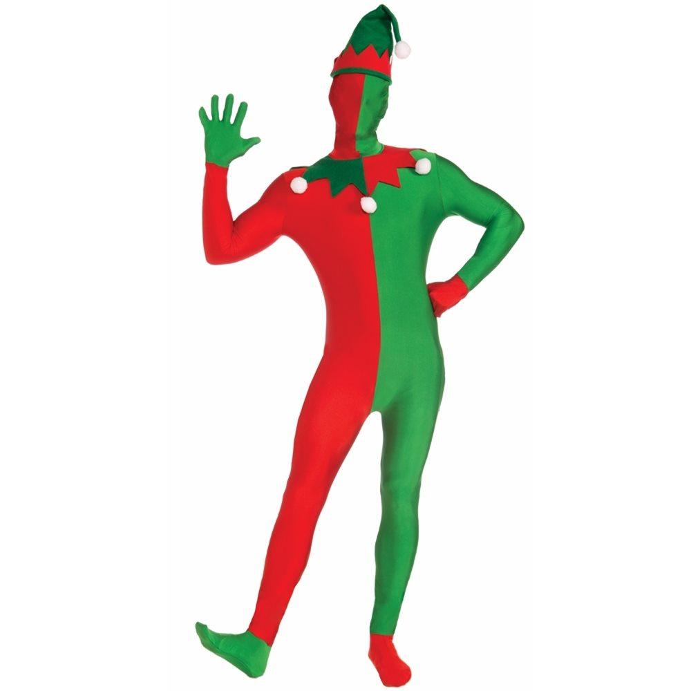 Picture of Christmas Elf Adult Mens Skin Suit