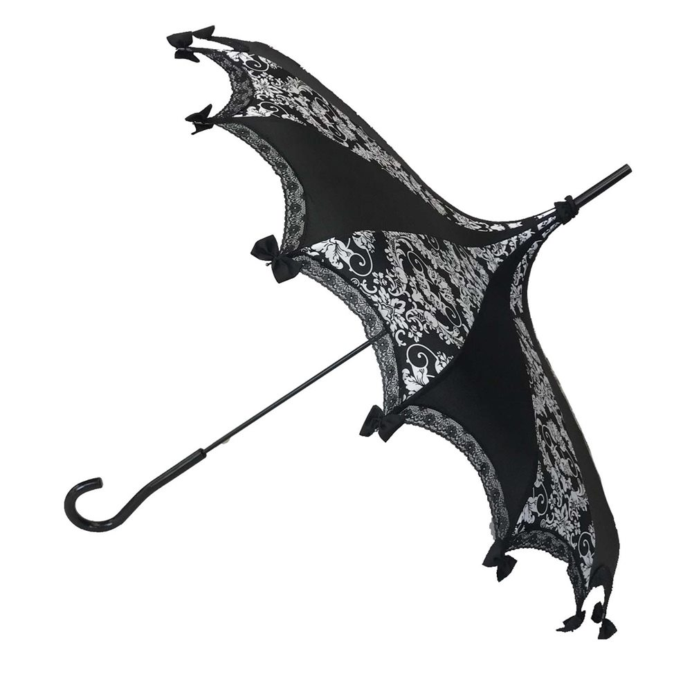 Picture of Gothic Bat Black & White Damask Umbrella