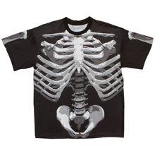 Picture of Skeleton Bones Adult Mens T-Shirt