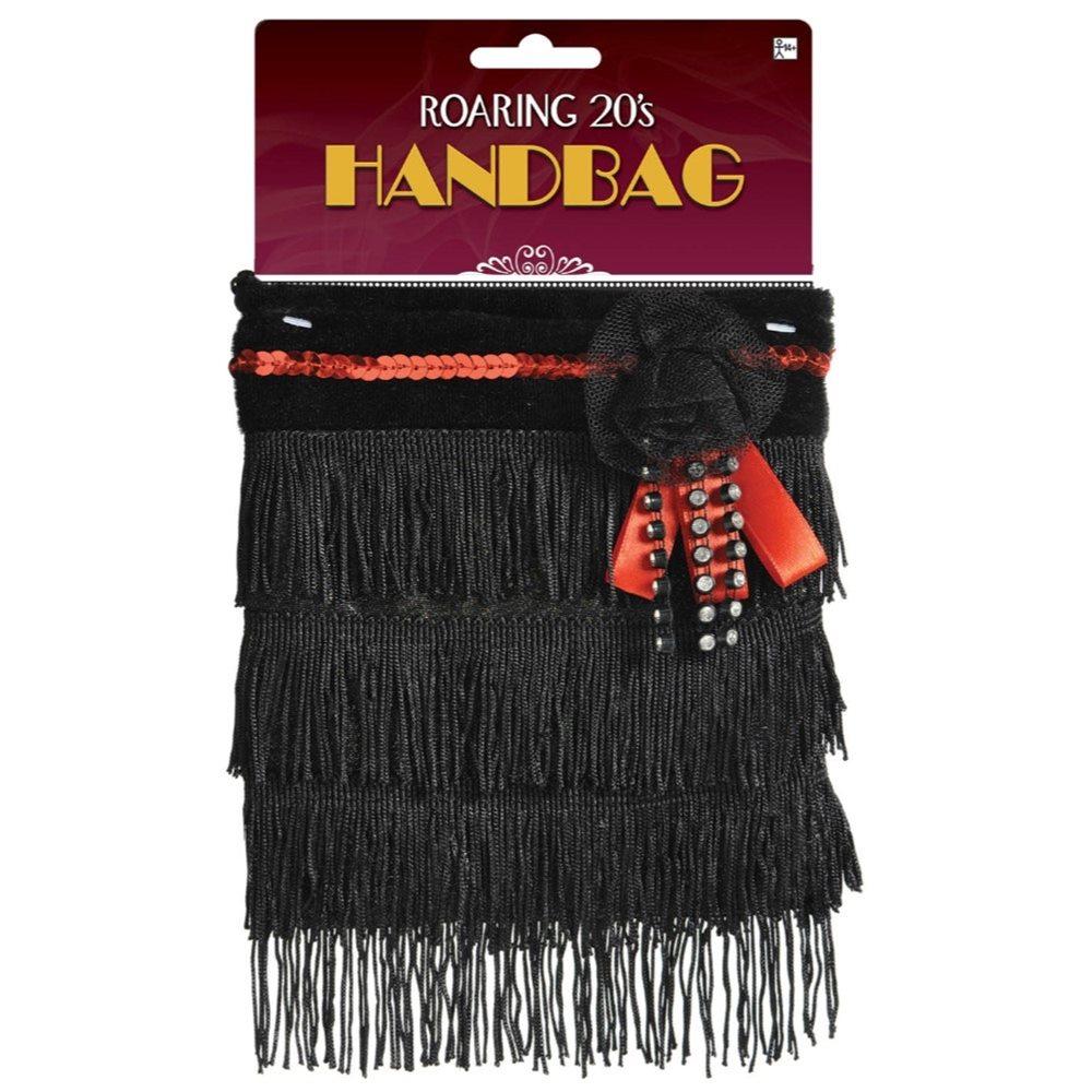 Picture of Black Fringe Flapper Handbag