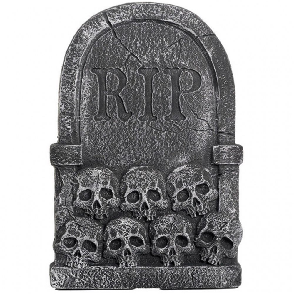 Picture of Stacked Skulls Tombstone 22in