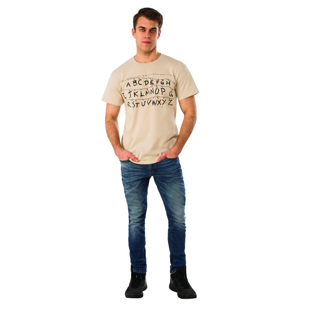 Picture of Stranger Things Alphabet Adult Mens T-Shirt