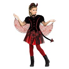 Picture of Fiery Devil Dress Child Costume