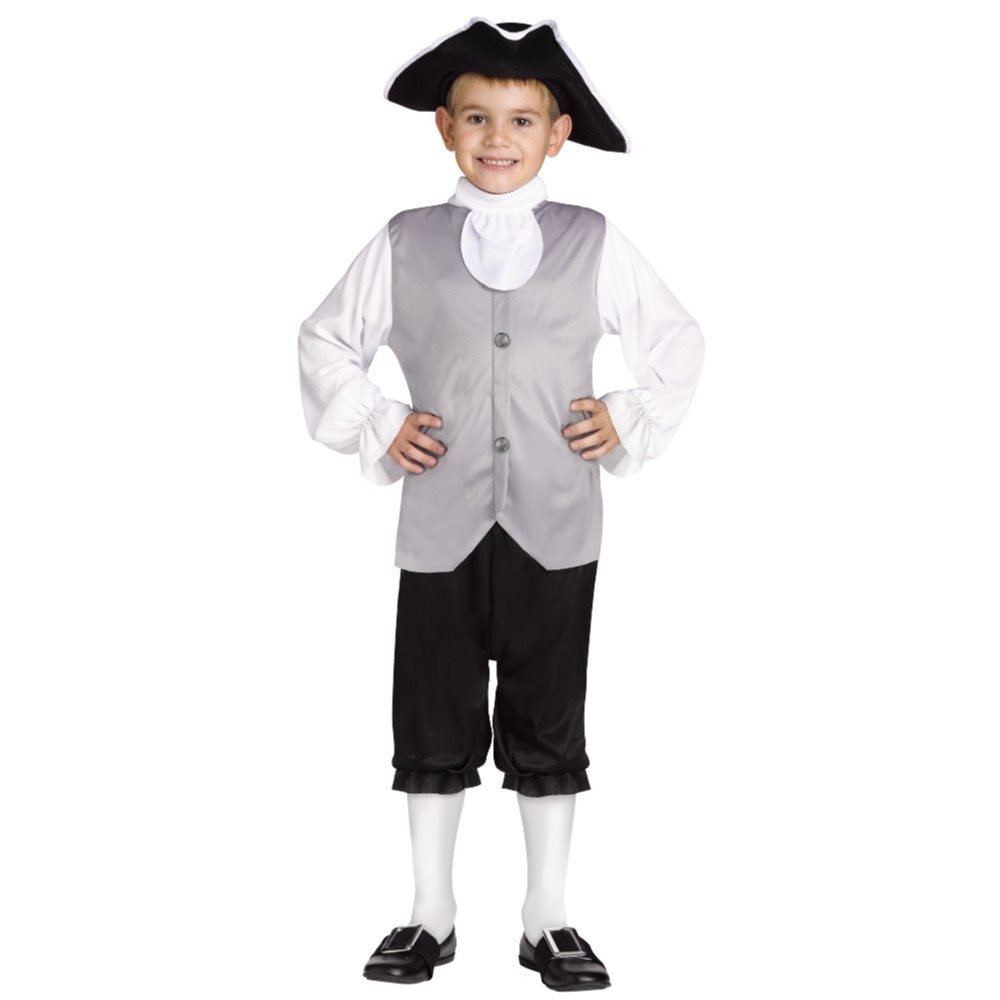 Picture of Grey Colonial Boy Child Costume