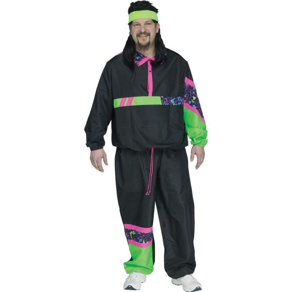 Picture of 80's Retro Track Suit Adult Mens Plus Size Costume