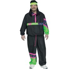 Picture of 80's Retro Track Suit Adult Mens Plus Size Costume