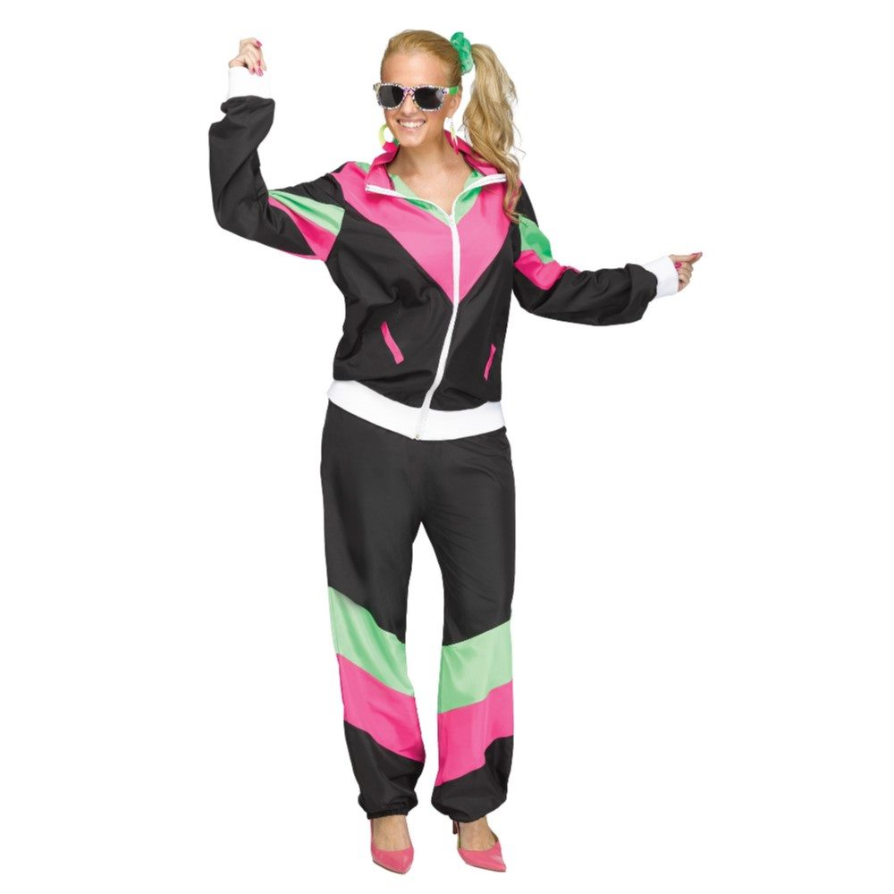 Picture of 80's Retro Track Suit Adult Womens Costume