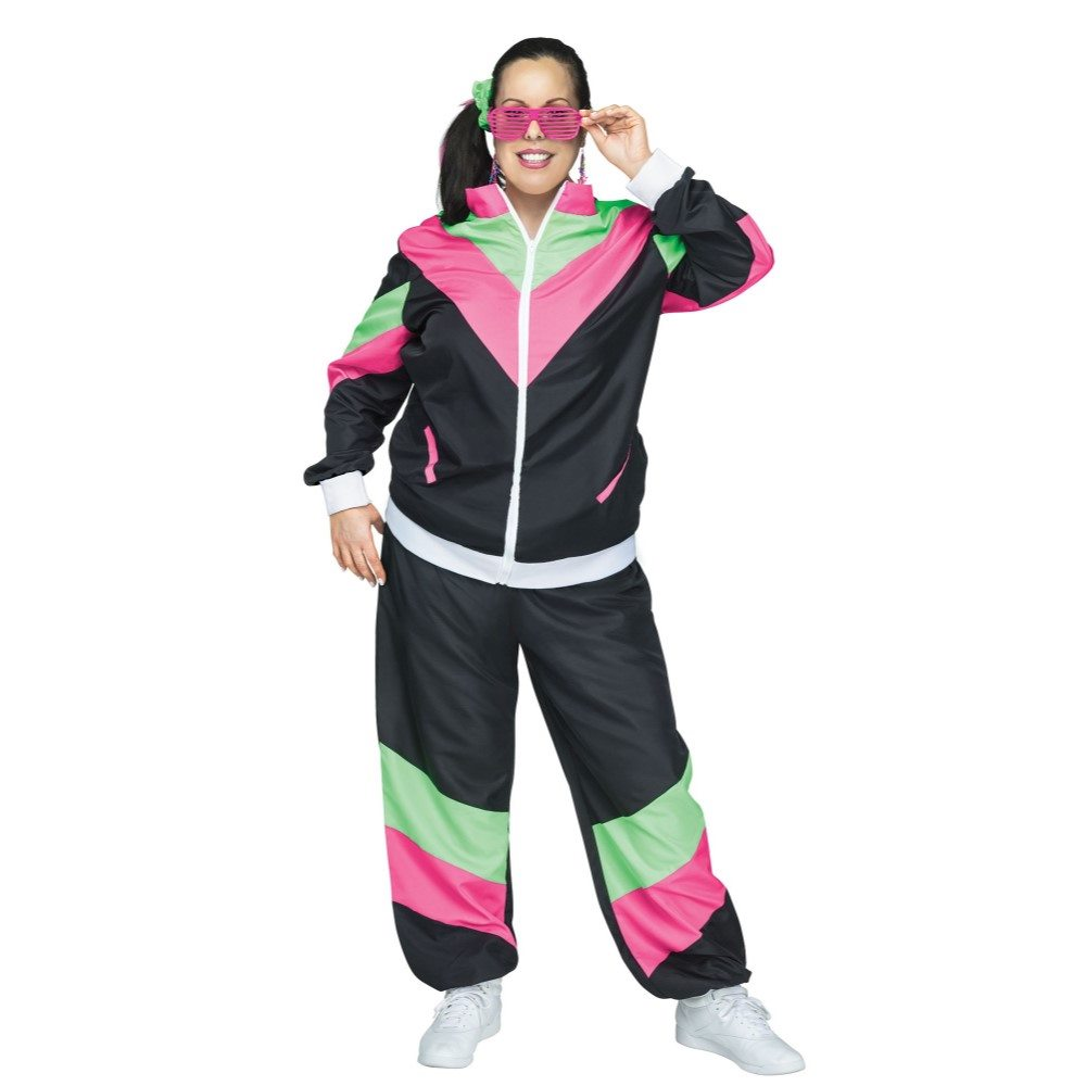 Picture of 80's Retro Track Suit Adult Womens Plus Size Costume