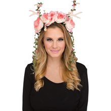 Picture of Pink & White Floral Fawn Headepiece